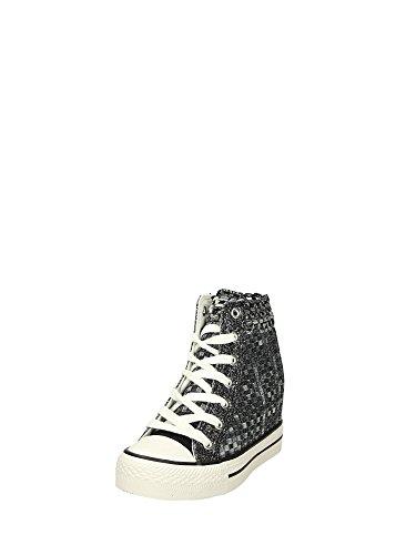 Naisten Cafe 7 Cm Canvas Black Kiila Noir Sneaker 7xUga