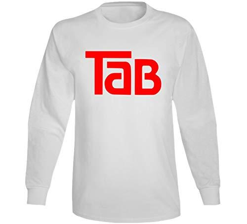 (Tab Cola Retro Beverage Soda Pop Long Sleeve T Shirt XL White)
