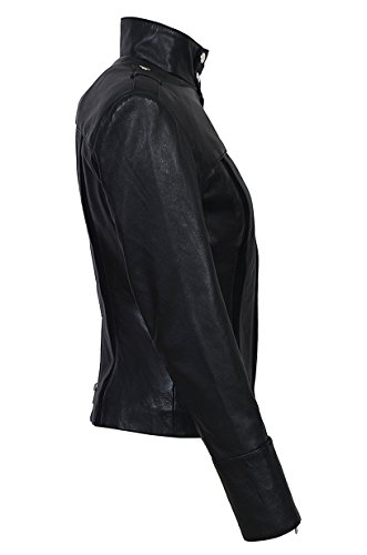 Slim Fit Smart Motociclista Range 4520 Nero Genuine Napa Giacca Pelle Ladies In Estilo Morbida qGULVjSzMp