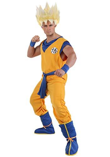 Adult Super Saiyan Goku Costume Large Orange,Blue -