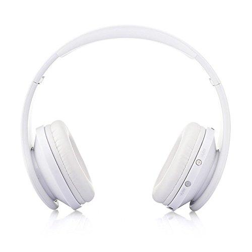 ホワイト 折りたたみ式 ワイヤレス ステレオ ヘッドセット ハンズフリー ヘッドホン マイク ホワイト MOMKER043  ホワイト B07Q32GKRD