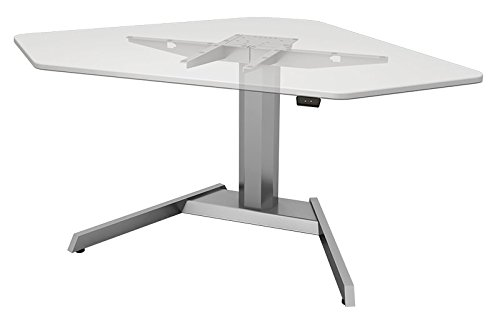 Single Column Electric Base, Silver: ESI Ergo CORE-SLV (1 Electric Table (Digital Corner Workstation)