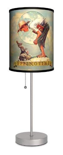 Saturday Evening Post - Norman Rockwell Springtime: Boy with Rabbit Sport Silver (Springtime Lamp)