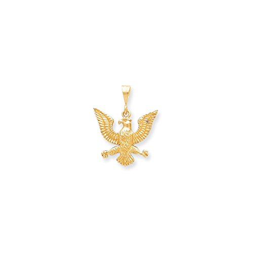 ICE CARATS 10kt Yellow Gold Solid Spread Eagle Pendant Charm Necklace Bird Fine Jewelry Ideal Gifts For Women Gift Set From Heart Eagle Pendant 10kt Gold Jewelry