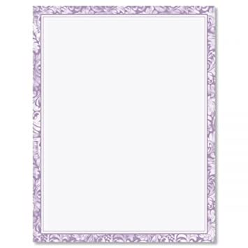 purple alluring border letter papers set of 25 floral stationery papers are 8 1