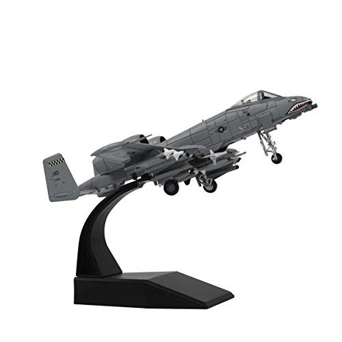 (1/100 Scale A-10 Thunderbolt II Warthog Attack Plane(Battle Loss Version) Metal Fighter Military Model Fairchild Republic Diecast Plane Model for Commemorate Collection or Gift)