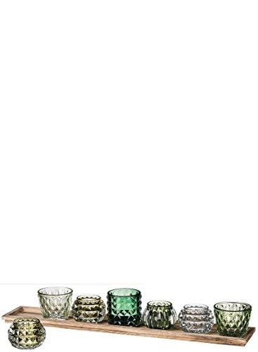 (Sullivans Seven Votive Tray Candle Holder Glass Home Accessories)