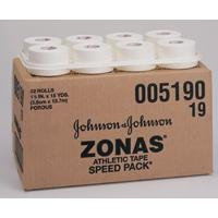 J & J Zonas Porous Athletic Tape, 2'' x 15 yds, 24/cs by Johnson & Johnson Consumer Products