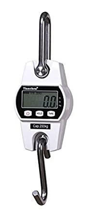 Black CGOLDENWALL OCS-L High Accuracy Electronic Weighing Crane Scale Digital Hanging Scale Mini Type LCD Weighing Kitchen Scale Balance 150KG OCS-L-150KG