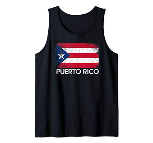 Puerto Rican Flag Design | Vintage Made In Puerto Rico Gift Tank Top