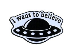 - Matt Stewart, I Want to Believe Spaceship, Licensed Original Artwork, Expertly Designed ENAMEL PIN - 1.25 x 0.60