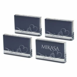 Mikasa Love Story Placecard Holder/Photo Frame, 2-Inch-by-3-Inch, Set of 4