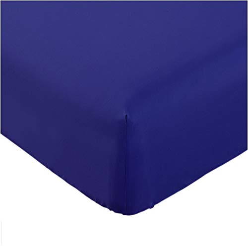 Mellanni Fitted Sheet Queen Imperial-Blue Brushed Microfiber 1800 Bedding - Wrinkle, Fade, Stain Resistant - Hypoallergenic - (Queen, Imperial Blue)