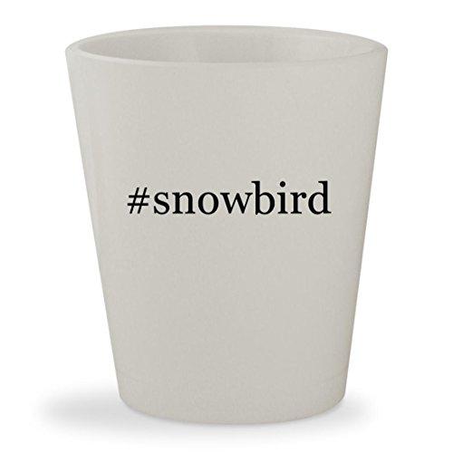 Price comparison product image #snowbird - White Hashtag Ceramic 1.5oz Shot Glass