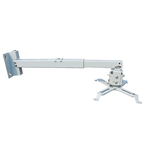 Extendable Tilt DLP LCD Ceiling Projector Mount Bracket 44 lbs White Fits For Most Of Video Projectors