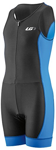 Louis Garneau Kids Comp 2 Sleeveless, Padded Triathlon Cycling Suit, Curacao Blue, Junior ()