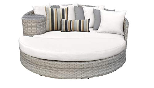 (TK Classics White Fairmont Chaise Lounges Sun Bed, Sail)