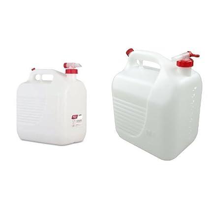 Tayg - Bidón 20 litros grifo + Bidón de plástico con grifo, 10 litros