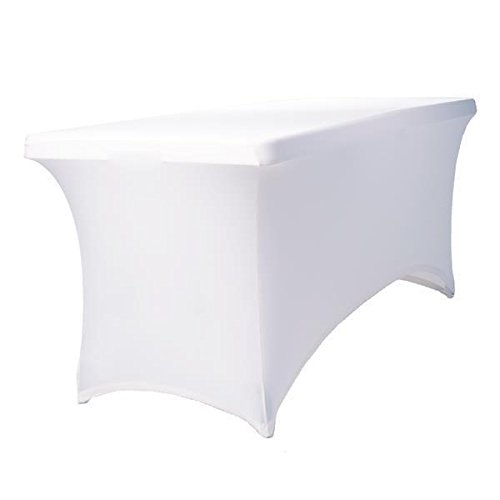 Expand Fodera Bianca Per Tavolo - Rivestimento, Copertura Come Tovaglia - 110cm-130cm - Chiuso - Elastico Expand Stretch Covers