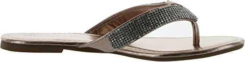 By Klassifisert Kvinners Valmue Mote Flip Flop Sandaler Dk Krone Metalic