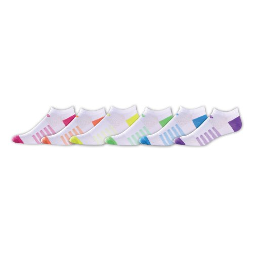 New Balance Unisex 6 Pack Lifestyle No Show Socks