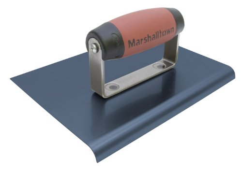 MARSHALLTOWN The Premier Line 14160 9-Inch by 6-Inch Blue Steel Edger with DuraSoft Handle by MARSHALLTOWN The Premier Line