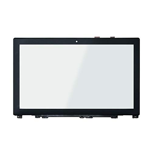 (LCDOLED Replacement 15.6 inches Touch Screen Digitizer Front Glass Panel with Bezel for Lenovo IdeaPad U530 20289 Touch Ultrabook (Touch Digitizer + Bezel))