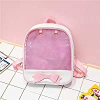 YDIDOD Clear Transparent Women Backpack Cute Bow Ita Bags for School Mini Pink Black Schoolbags for Teenage Girls Fashion Bookbag 2019