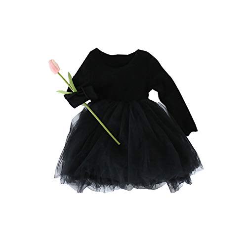 8c2837742996e Mornyray 子供服 ドレス ワンピース 長袖 チュール ふわふわ キッズ 女の子 プリンセス おしゃれ フォーマル セレモニー size 90