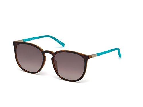 GUESS Gu3020 Wayfarer Sunglasses, dark havana & gradient brown, 56 ()