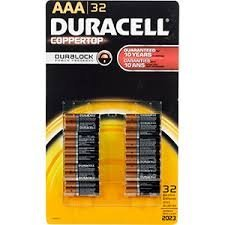 Price comparison product image Duracell Batteries,  Alkaline,  AAA 32 batteries