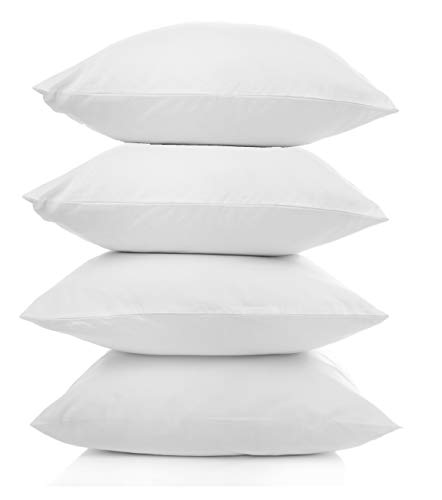 (Pal Fabric Outdoor Anti-Mold Waterproof Square Sham Pillow Insert Made in USA (Set of 4-18x18) )