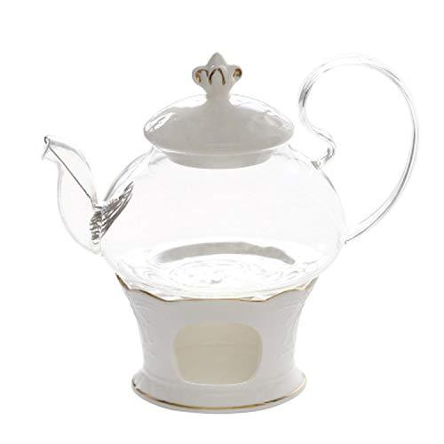 Hot Selling English Afternoon Tea Ceramic Glass Flower Tea Fruit Set Teapot European Style Tea Pot Heating Teapot Set,Teapot And Base (Made England Tea Cup Daisy)