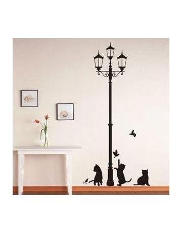Vinilo decorativo pegatina pared, cristal, puerta (Varios colores a elegir)- gatos