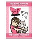 Weruva 784225 12-Pack Best Feline Friend Tuna/Duck Devour Me Gravy Cat Food, 3-Ounce