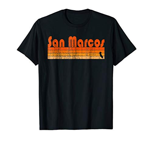 Retro 80s Style San Marcos CA T-Shirt -