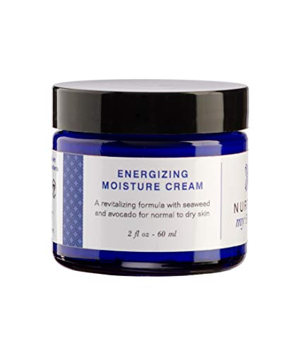 Nurture My Body All-Natural Energizing Moisturizing Facial Cream, Fragrance Free, 2 fl oz. - Certified Organic Ingredients