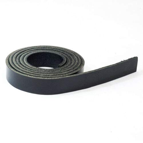 (1 Black Water Buffalo Veg Tan Leather 3/4