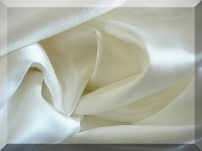 - Feeling Pampered 100% Mulberry Silk Charmeuse Queen Flat Sheet Undye White Half of Retail