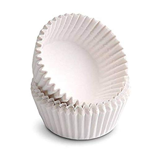 Large Cupcake Liners (Happy Sales Giant Muffin Cups, White, Pack Of)