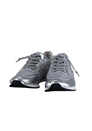 Kennel & Schmenger Sneaker Trainer Materialmix Metallic Silber/Grau