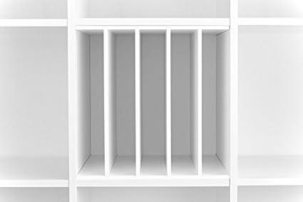 Estante con divisores verticales para estanterías Kallax y Expedit de Ikea, para almacenar vinilos y libros, con divisores de compartimentos para 5 ...