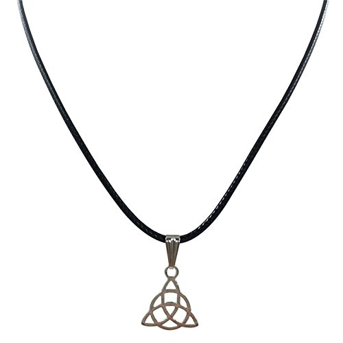 Exteren Retro Peace Charm Pendant Plated Wire Wrap Alloy Choker Necklace Jewelry for Women Men (A)
