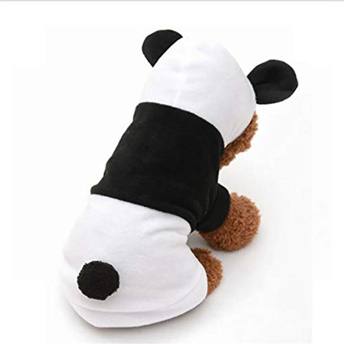 RUJFISH Rurah Pet Dog Clothes Cat Apparel Costume T-Shirt Clothes Jacket Outfit Cute Pet Dog Puppy Panda Fleece Autumn Hooded Apparel Costume Hoodie Clothes -