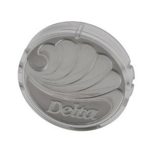 """Delta Index Button Delta Single Handle Lavatory And Tub/Shower Faucets Clear Acrylic 1-1/2 """" Dia Car"""