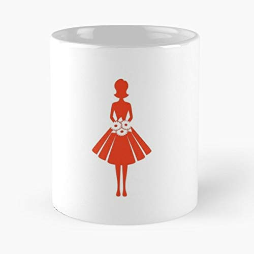 Icon Clipart Silhouette Woman - 11 Oz Coffee Mugs Unique Ceramic Novelty Cup, The Best Gift For Holidays.