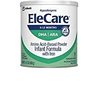 EleCare Infant DHA Baby Formula-Powder-14.1 Ounces-6 Pack