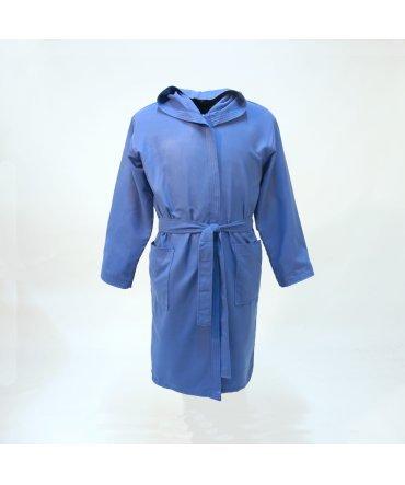 10XDIEZ Albornoz Microfibra Infantil Azul - Medidas Albornoces/Pijamas Infantil - 4