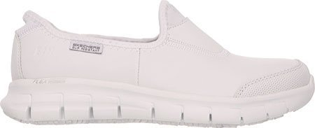 Skechers Women's Work Relaxed Fit Sure Track,White,US 11 M