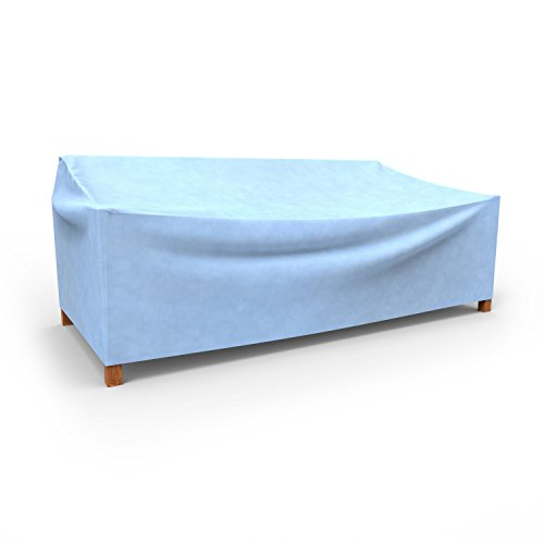 Budge All-Seasons Outdoor Patio Sofa Cover, Extra Large (Blue) (Blue Outdoor Furniture Covers)